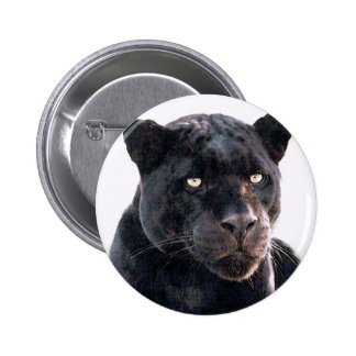 Jaguar negro pin redondo de 2 pulgadas