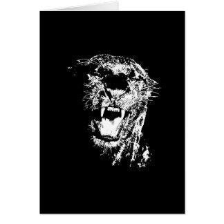 Jaguar negro tarjeta de felicitación