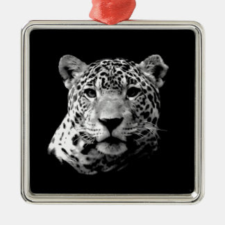 Jaguar negro y blanco adorno de reyes