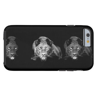 Jaguar negro y blanco funda de iPhone 6 tough