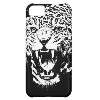 Jaguar negro y blanco funda para iPhone 5C
