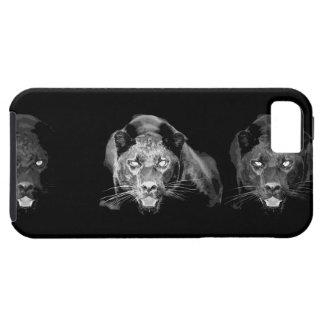 Jaguar negro y blanco iPhone 5 carcasa