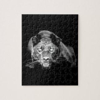 Jaguar negro y blanco puzzles
