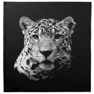 Jaguar negro y blanco servilletas
