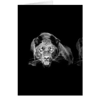 Jaguar negro y blanco - tarjetas salvajes de los g