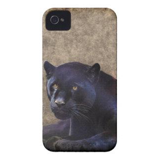 Jaguar negro y caso rústico del iPhone 4 de BG del Case-Mate iPhone 4 Cobertura