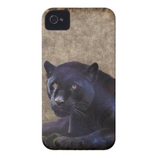Jaguar negro y caso rústico del iPhone 4 de BG del Case-Mate iPhone 4 Coberturas
