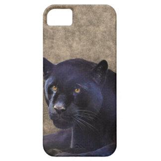 Jaguar negro y caso rústico del iPhone 5 de BG del iPhone 5 Carcasa