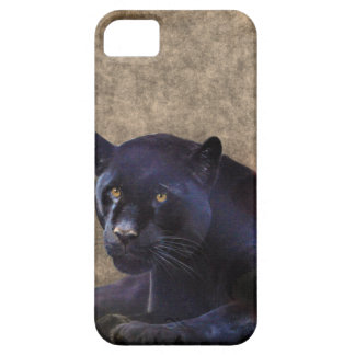 Jaguar negro y caso rústico del iPhone 5 de BG del iPhone 5 Funda