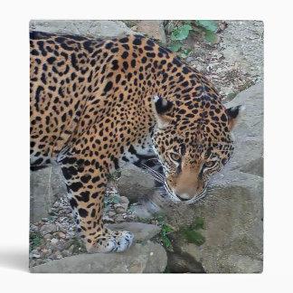 Jaguar On Rocks 3 Ring Binder