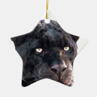 Jaguar Double-Sided Star Ceramic Christmas Ornament