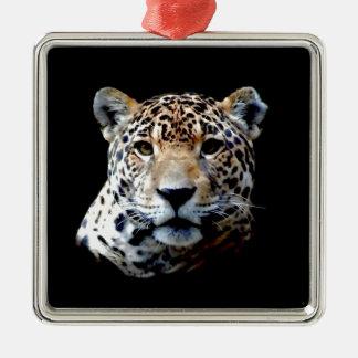 Jaguar Square Metal Christmas Ornament
