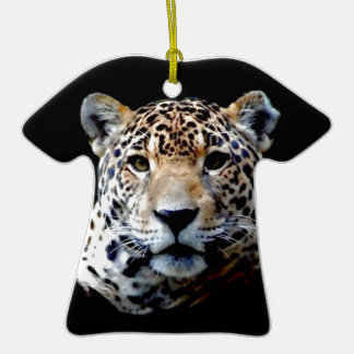 Jaguar Double-Sided T-Shirt Ceramic Christmas Ornament