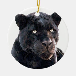 Jaguar Double-Sided Ceramic Round Christmas Ornament
