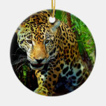 Jaguar Double-Sided Ceramic Round Christmas Ornament