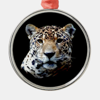 Jaguar Round Metal Christmas Ornament