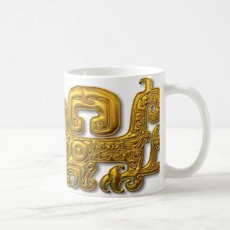 Jaguar-Oro maya Tazas