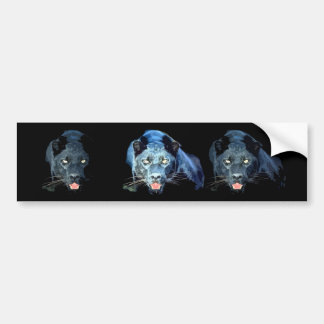 Jaguar - pantera negra etiqueta de parachoque