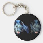 Jaguar - pantera negra llaveros personalizados