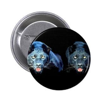 Jaguar - pantera negra pin redondo de 2 pulgadas