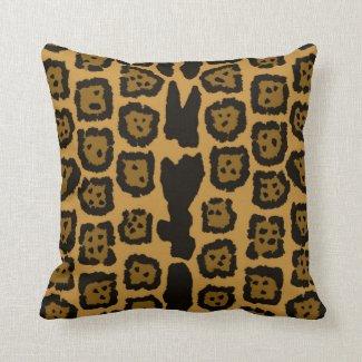 Jaguar Pattern in Natural Colors Throw Pillow