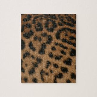 Jaguar pattern jigsaw puzzles
