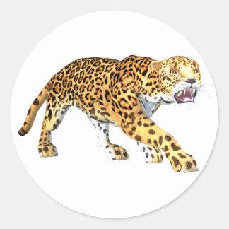 Jaguar Pegatinas Redondas