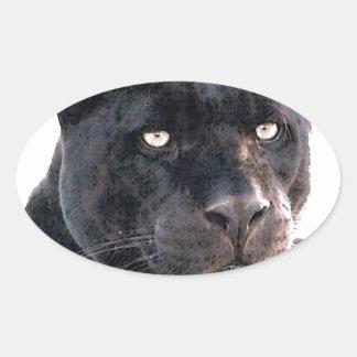 Jaguar Pegatina Ovalada