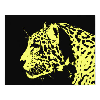 Jaguar Pop Art Card