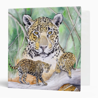 Jaguar Portrait Animal Art Binder
