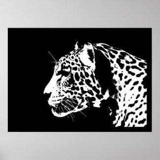 Jaguar Poster Print - Black & White Jaguar Posters