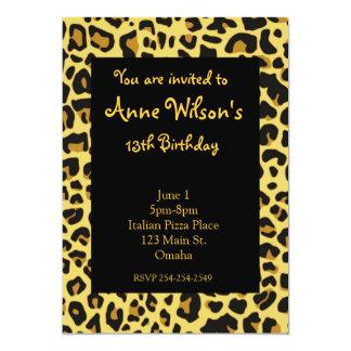 Jaguar Print Girls Invitation