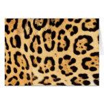 Jaguar Print Greeting Card