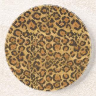 Jaguar Print, Jaguar Fur Pattern, Jaguar Spots Drink Coasters