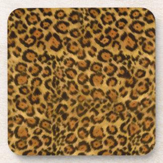 Jaguar Print, Jaguar Fur Pattern, Jaguar Spots Drink Coaster
