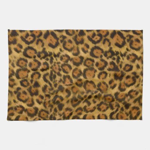 Jaguar Print Jaguar Fur Pattern Jaguar Spots Hand Towels