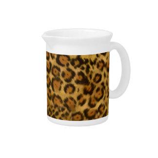 Jaguar Print, Jaguar Fur Pattern, Jaguar Spots Beverage Pitchers