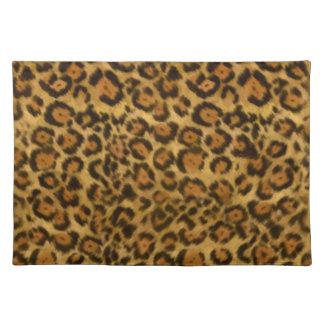 Jaguar Print, Jaguar Fur Pattern, Jaguar Spots Cloth Placemat