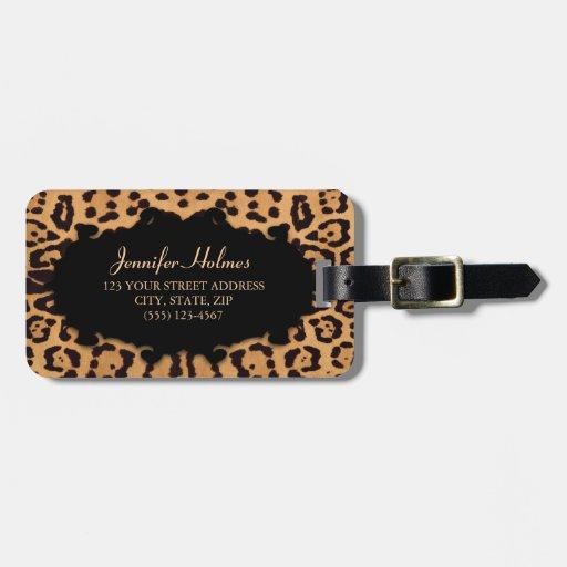 Jaguar Print Personalized luggage tag