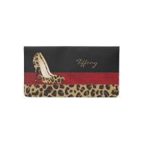 Jaguar Print Stilettos Check Book Cover