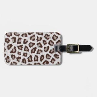 Jaguar Print Tag For Bags