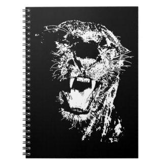 Jaguar que ruge libros de apuntes