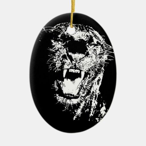 Jaguar Roaring Ornament