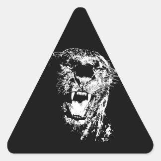 Jaguar Roaring Sticker