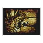 Jaguar salvaje manchó al amante del animal de la p impresión de lienzo