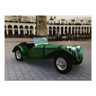 Jaguar SS 90 Roadster - LARGE Poster