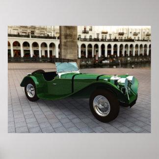 Jaguar SS 90 Roadster - LARGE Poster