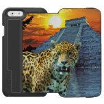 Jaguar suramericano en Chichen Itza Funda Cartera Para iPhone 6 Watson