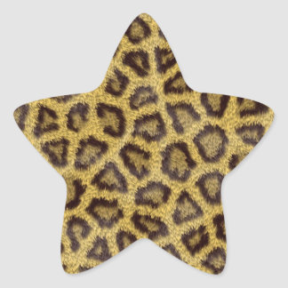 Jaguar texture star sticker
