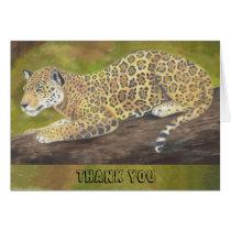 Jaguar thank you card